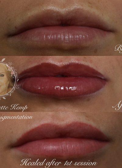 Natural looking semi permanent lips