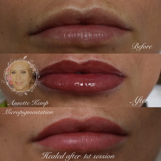 Natural looking semi permanent lips