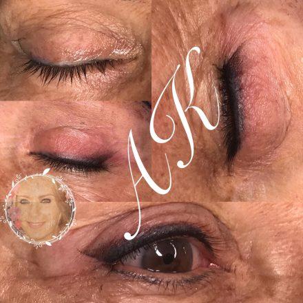 Shaded eyeliner tattoo