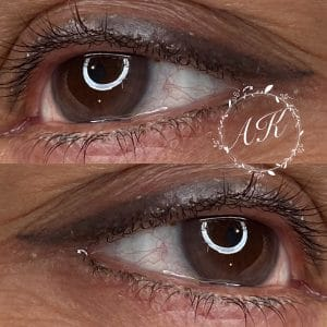 Healed semi permanent eyeliner