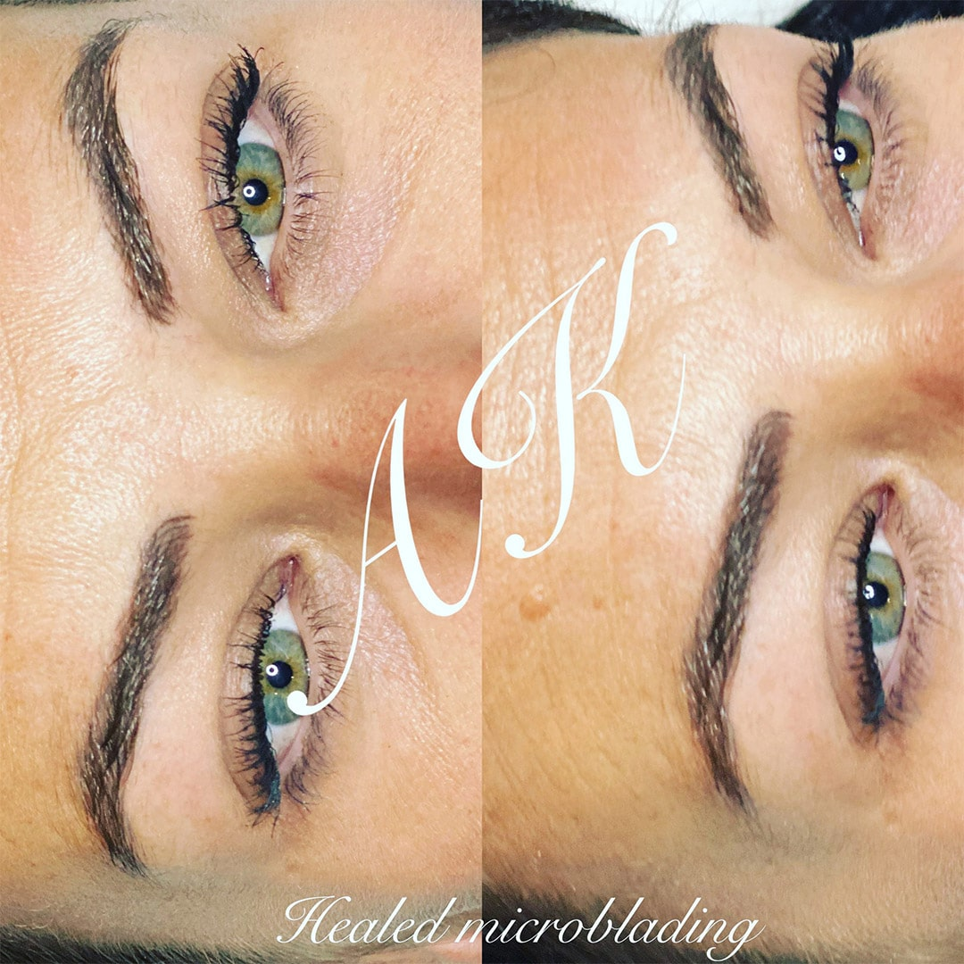 Does microblading hurt - healed microbladin