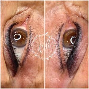 Shaded eyeliner for mature skin