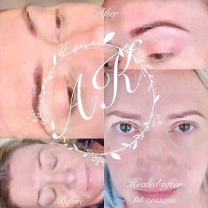 Healed pixel brows