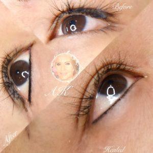 Healed fine semi permanent eyeliner